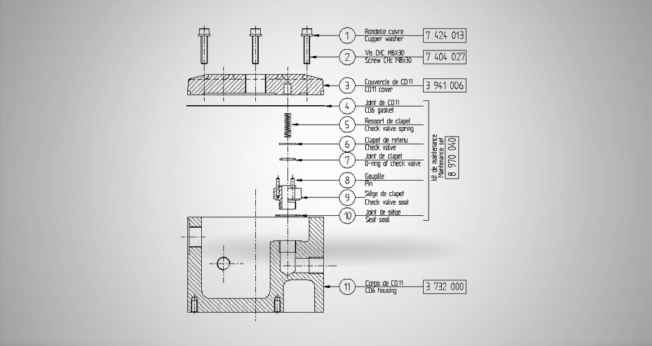 Clapet décanteur CD11 (pour G04, G05)
